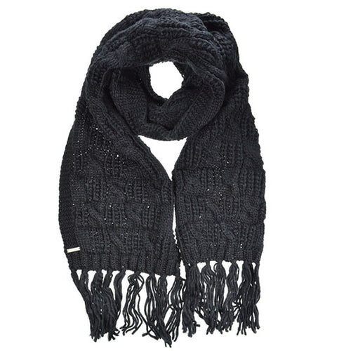 Seeberger Scarf with fringes in cable structure | SHEEN UNCOVERED