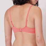 Wish Full Cup Plunge Coral Bra