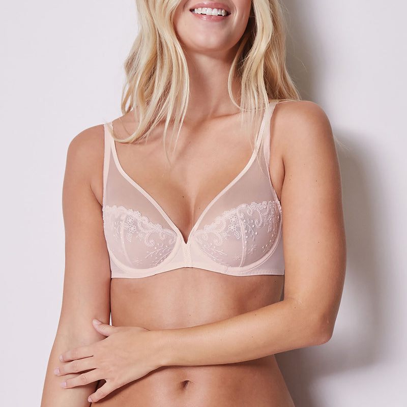 Simone Pérèle Delice lace cup U/W bra C - G | SHEEN UNCOVERED, Blush