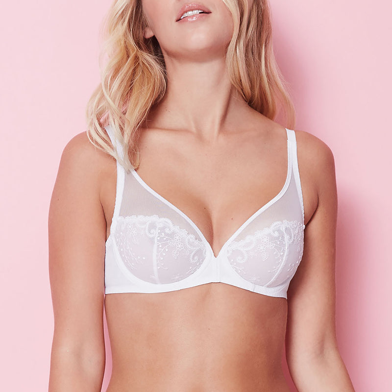 Simone Pérèle Delice lace cup U/W bra C - G | SHEEN UNCOVERED, White