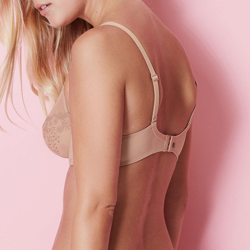 Simone Pérèle Delice lace cup U/W bra C - G back view | SHEEN UNCOVERED, Nude