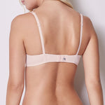 Simone Pérèle Delice lace cup U/W bra C - G back view | SHEEN UNCOVERED, Blush