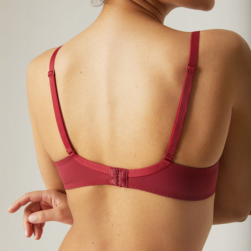 Wish Wine Full Cup Plunge Bra