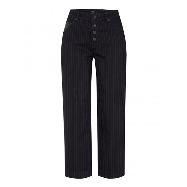 Liv Striped Denim Culotte Trousers