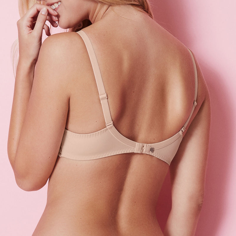 Simone Pérèle Andora 3D spacer t-shirt bra 131 343 back view | SHEEN UNCOVERED, Peau Rose