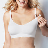 Body silk seamless nursing bra | SHEEN UNCOVERED, white