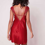 Simone Perele Pensee short nightdress Ruby | SHEEN UNCOVERED