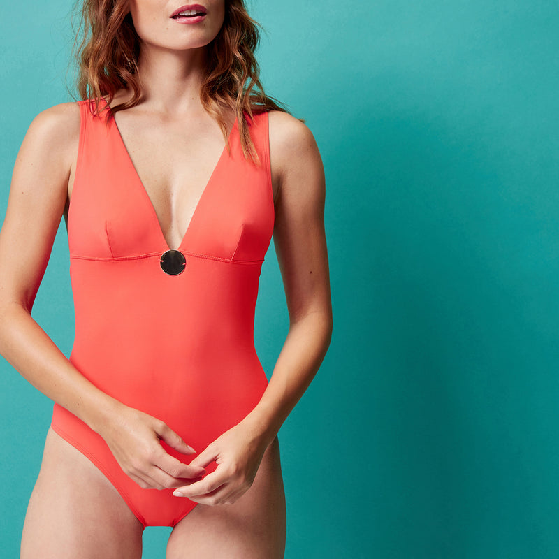 Simone Pérèle Moon Wireless Swimsuit 1BRB10 | SHEEN UNCOVERED, clementine