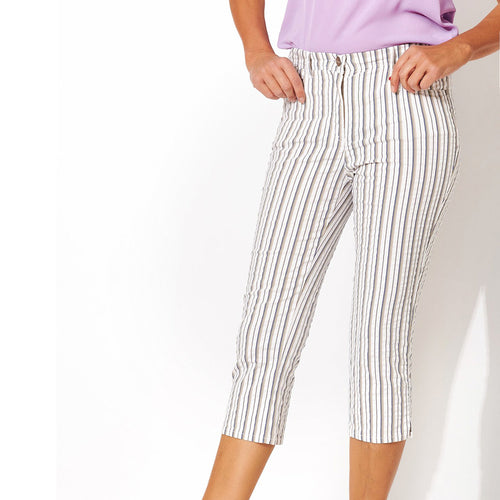Meine 3/4 Length Striped Trousers