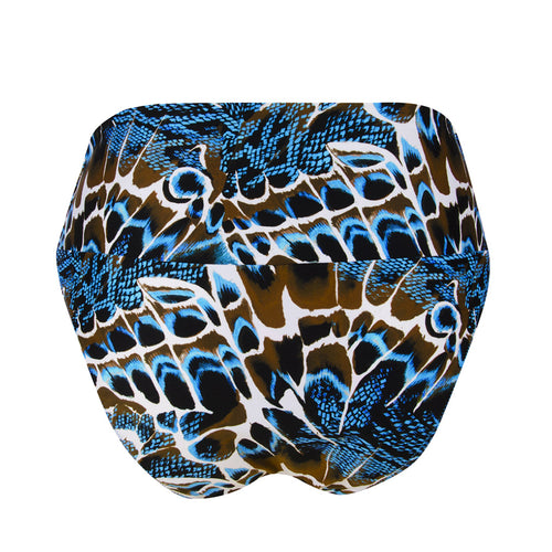L'Animal Blue Wide Side Bikini Bottom