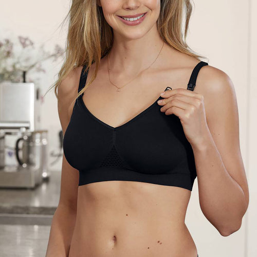 Anita Lotus Nursing Bra #5096 | SHEEN UNCOVERED, black