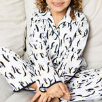 Poppy Pinguins Print Kids PJ Set