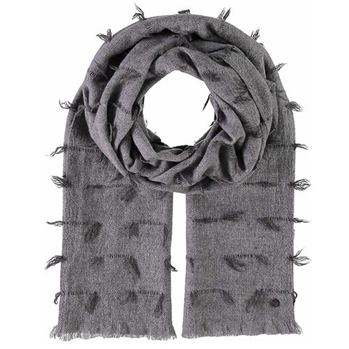 Fraas Wool Wrap Style 2  050/180 AW19 | SHEEN UNCOVERED, Grey