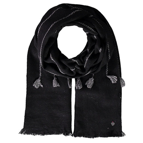 Fraas Wool Wrap Style 1  050/180 AW19 | SHEEN UNCOVERED, Black