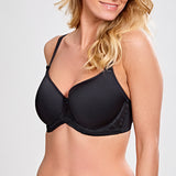 Cari balconette spacer bra Cup D-GG | SHEEN UNCOVERED, Black