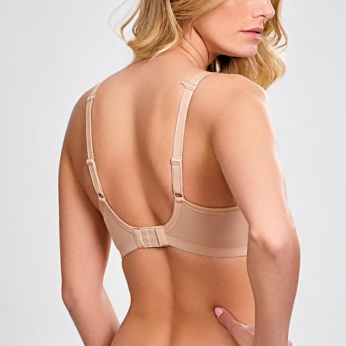 Panache Cari balconette spacer bra Cup E-GG back view | SHEEN UNCOVERED, Champagne