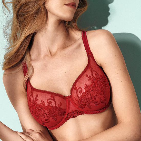 Apolline Red Half Cup Bra