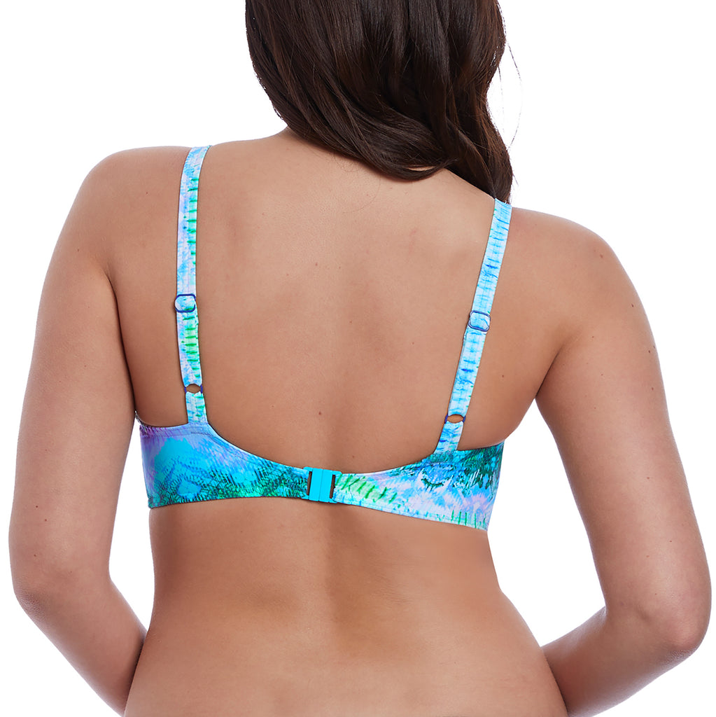 Freya Swim Seascape plunge bikini top Cup DD-HH Blue Lagoon | SHEEN UNCOVERED
