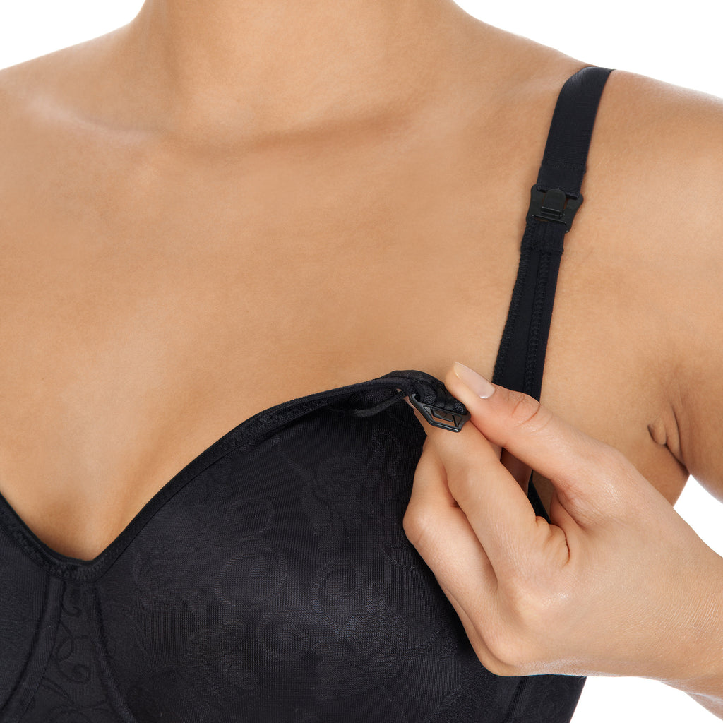 Underwired nursing bra, Black