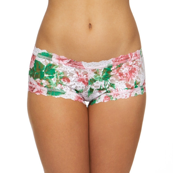 Hanky Panky Printed Boyshort, Blushing Rose