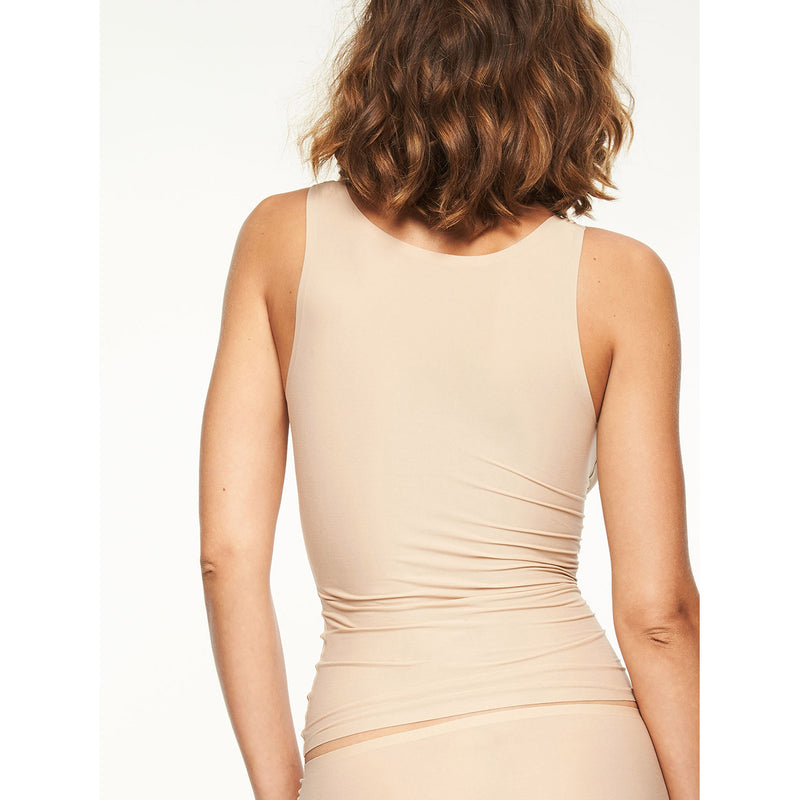 Chantelle Soft Stretch Seamless Vest BACK | SHEEN UNCOVERED, Nude