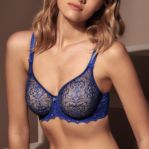 Cassiopee Blue Caraibes Low Neck Bra
