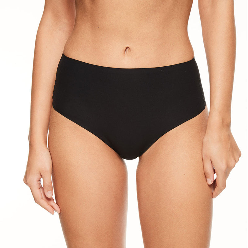 Chantelle Soft Stretch high waisted thong | SHEEN UNCOVERED, Black