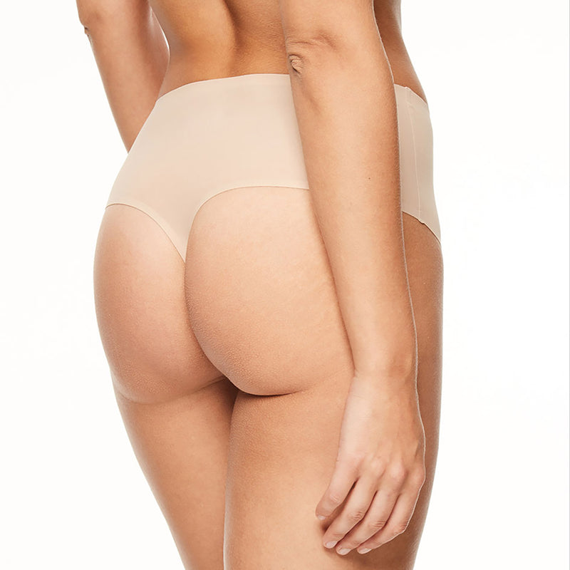 Chantelle Soft Stretch high waisted thong | SHEEN UNCOVERED, Nude