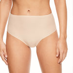 Chantelle Soft Stretch high waisted thong front | SHEEN UNCOVERED, Nude