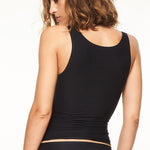 Chantelle Soft Stretch Seamless Vest Back | SHEEN UNCOVERED, Black