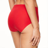 Chantelle Soft Stretch seamless high waisted brief back view C26470 | SHEEN UNCOVERED, Poppy