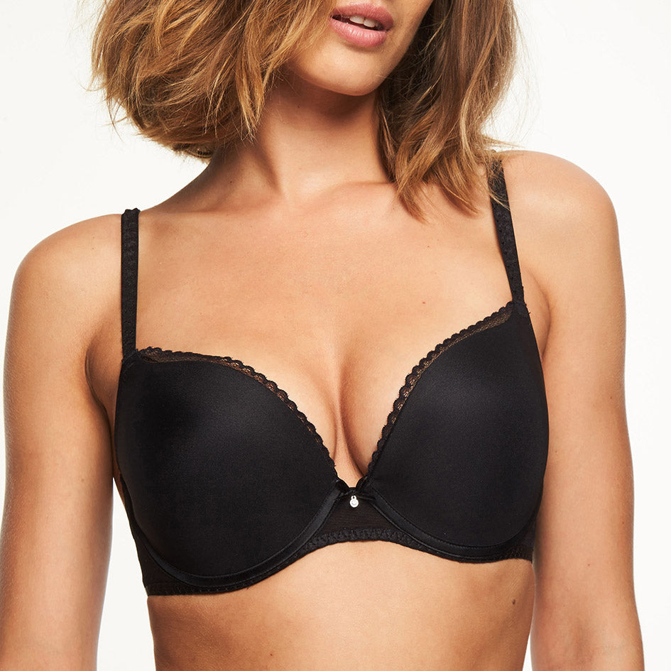 Chantelle Courcelles push-up t shirt bra, Black