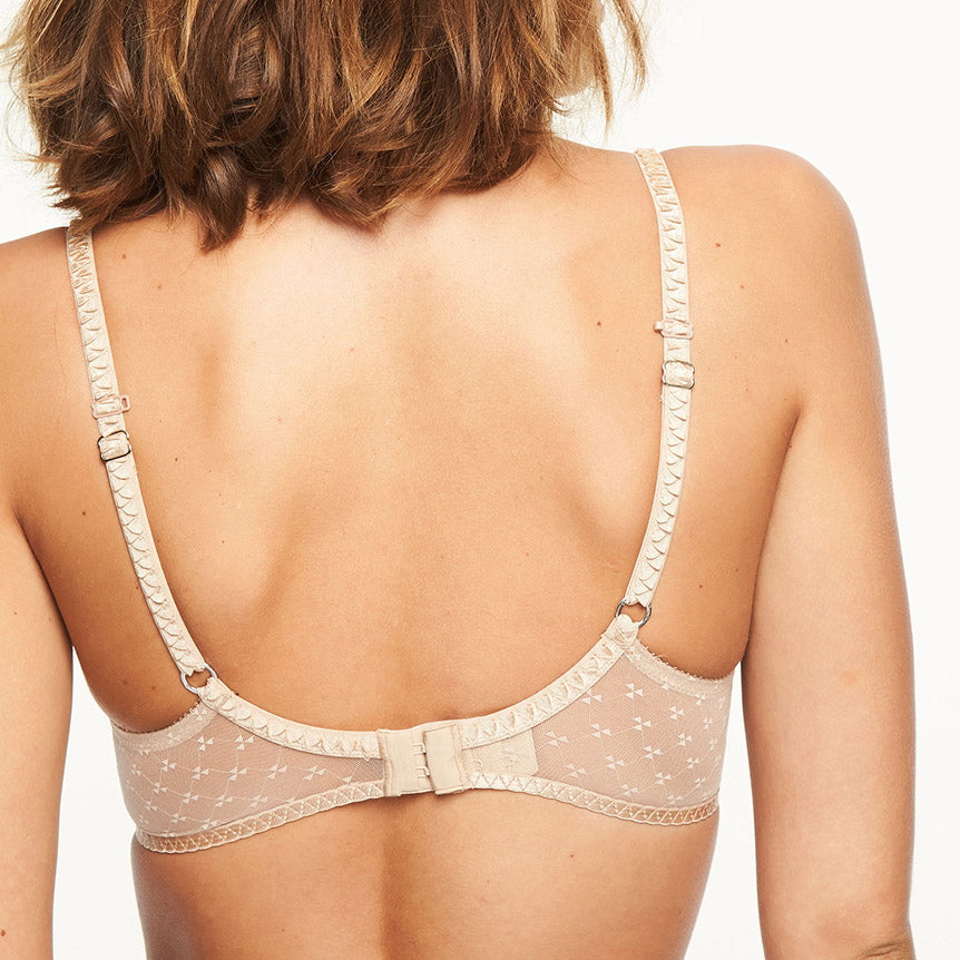 Chantelle Courcelles push-up t shirt bra back view, Nude
