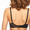 Chantelle Courcelles spacer t shirt bra back view | SHEEN UNCOVERED, Black