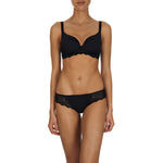 Caresse 3D spacer t-shirt bra, Black