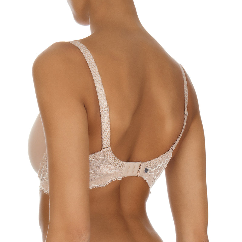Caresse 3D spacer t-shirt bra, Nude