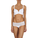Caresse 3D spacer t-shirt bra, White