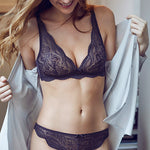 Simone Pérèle Eden Soft Cup Triangle Bra Navy 12E250 | SHEEN UNCOVERED