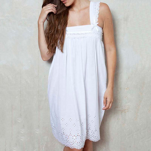 Edwin Cotton Lawn Schiffi Nightdress