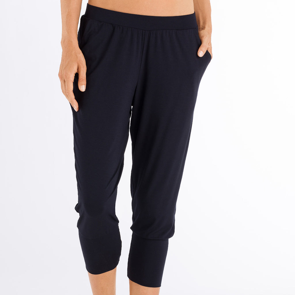 dd78ef7fea5be Cropped yoga pant; Hanro Cropped yoga pant 078389 | SHEEN UNCOVERED, black  ...
