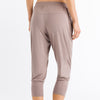 Hanro Cropped yoga pant 078389 | SHEEN UNCOVERED, taupe