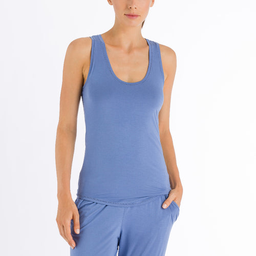 Yoga vest top Riviera Blue
