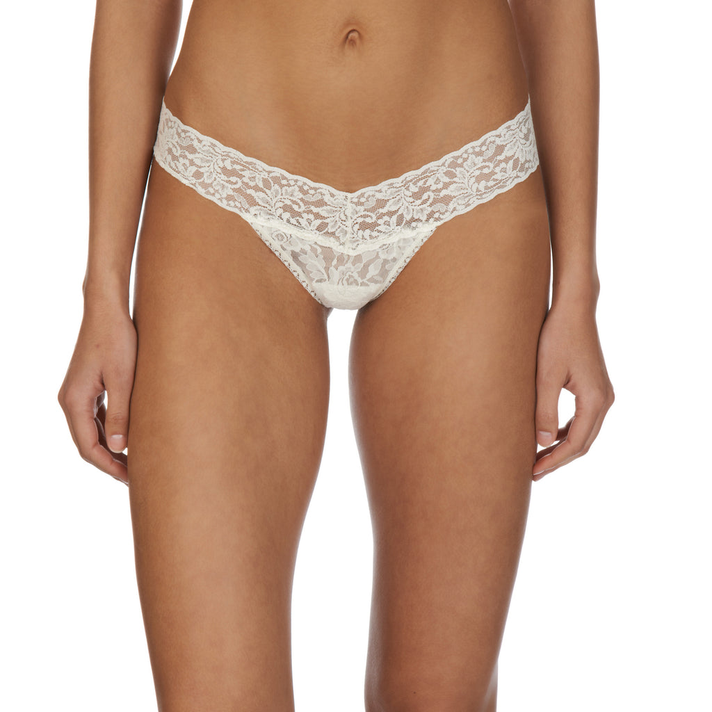Low rise thong, Ivory