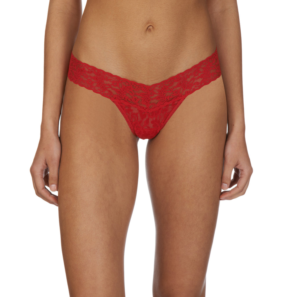 Low rise thong, Red