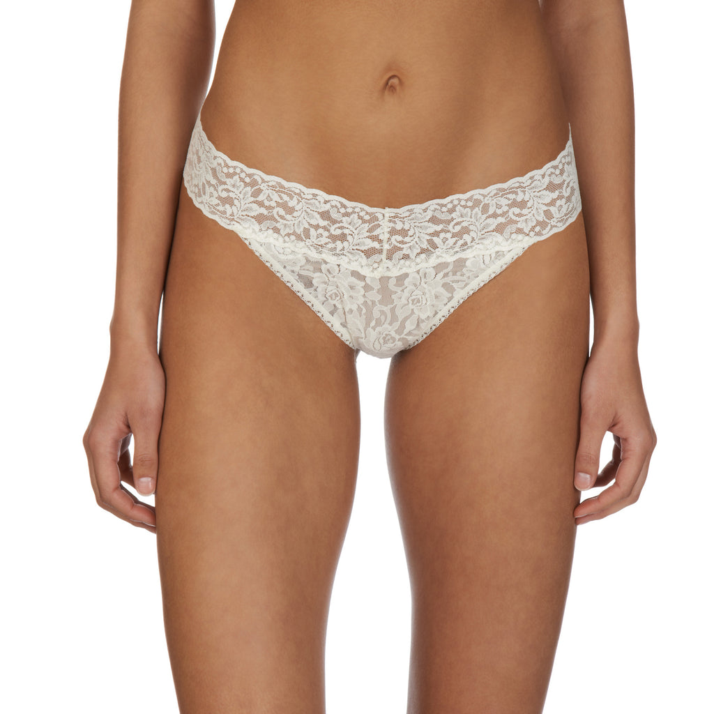 Hanky Panky Original thong front view, Ivory