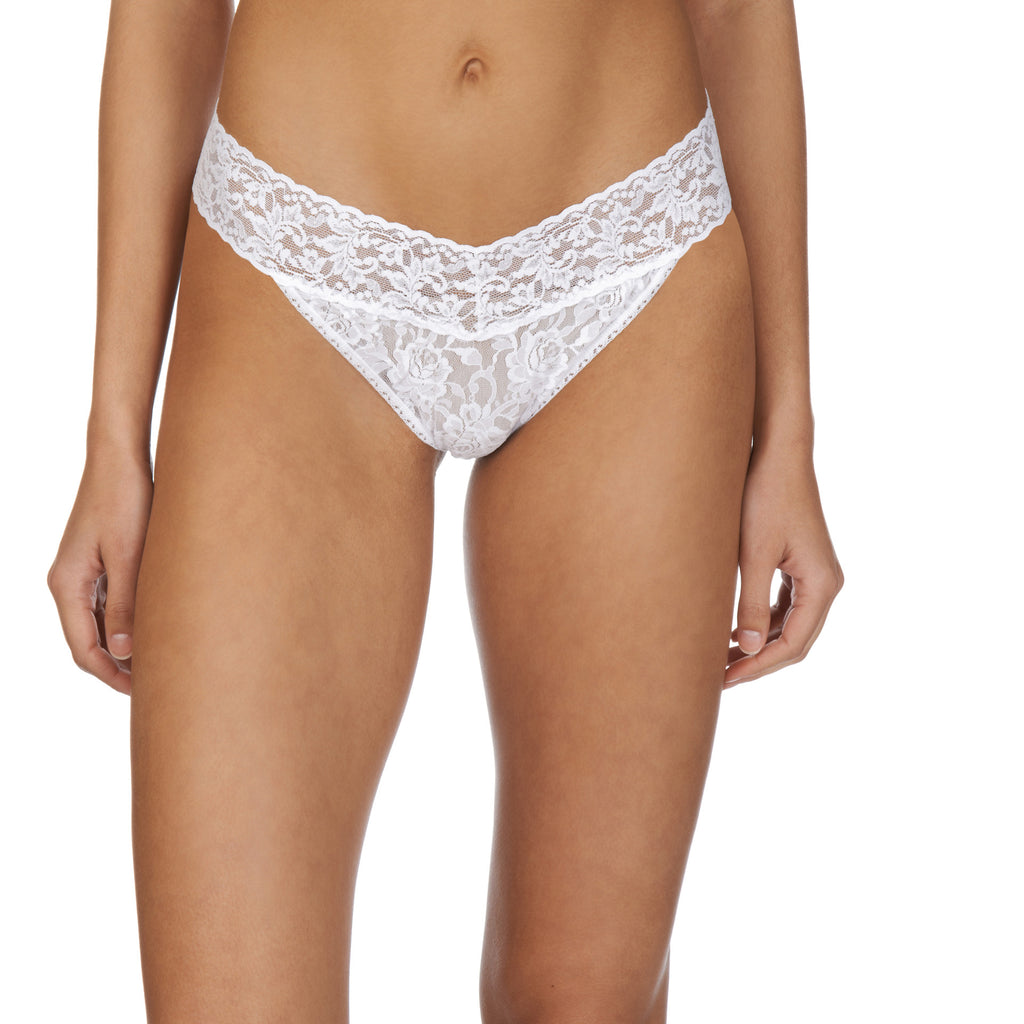 Hanky Panky Original thong front view, White