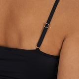 Satin deluxe Cami top 071063 close-up, Black