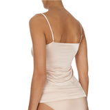 Satin deluxe Cami top 071063 back, Nude
