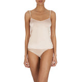 Satin deluxe Cami top 071063 bodyshot, Nude
