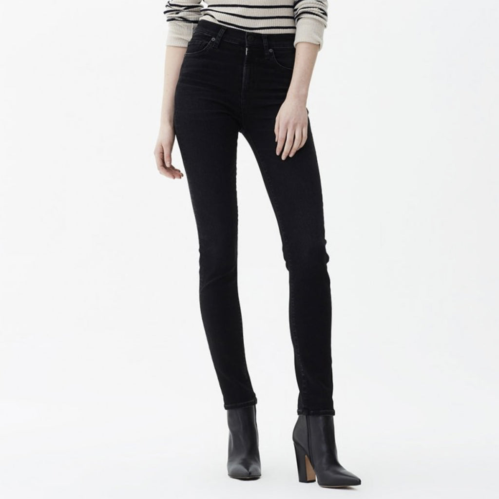 Harlow high rise slim jeans in 'Decend'